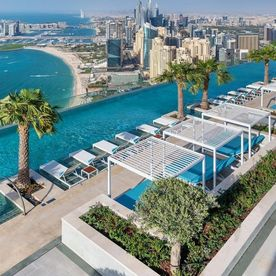 dubai, address, beach, resort, perchee, metres, piscine, portesdimanche, situee, sommet, ouvert, public