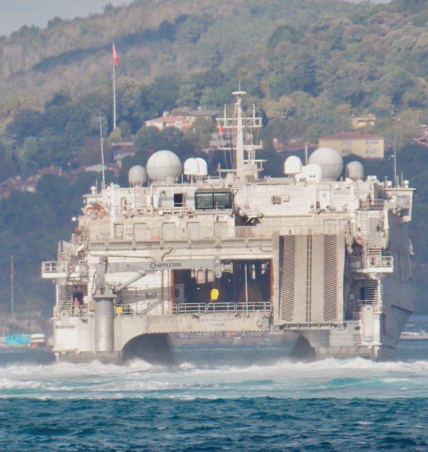 Високошвидкісне десантне судно флоту США USNS Yuma / фото twitter.com/yorukisik