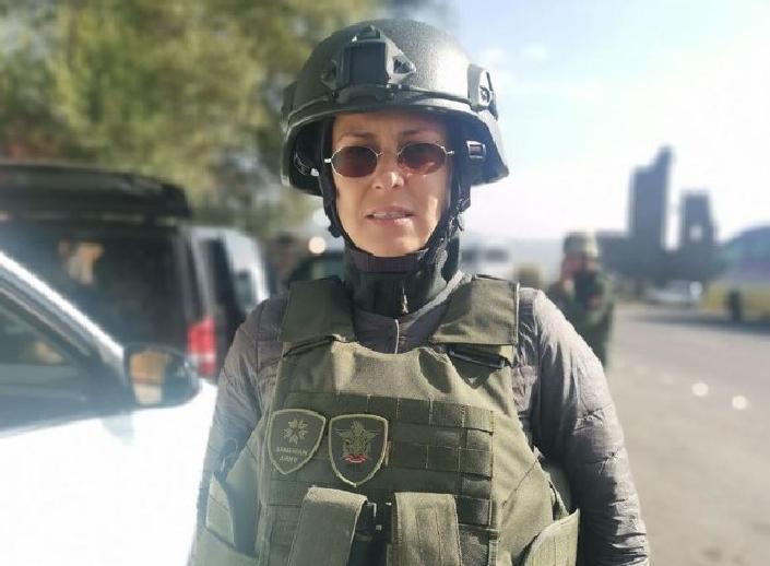 Чичерина поехала в Нагорный Карабах и попала под обстрел / фото t.me/julia_chicherina