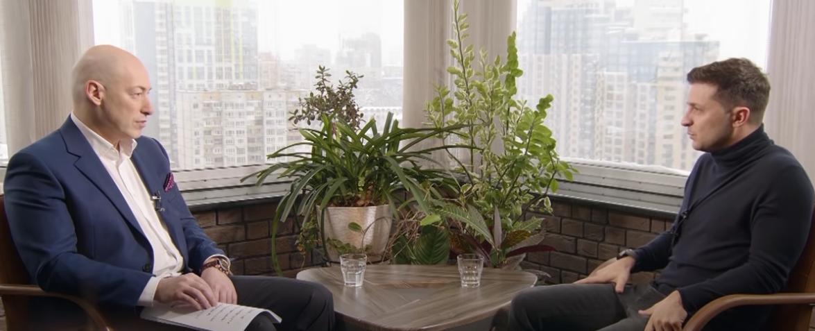 Гордон ранее записывал интервью и с самим Зеленским / скриншот видео