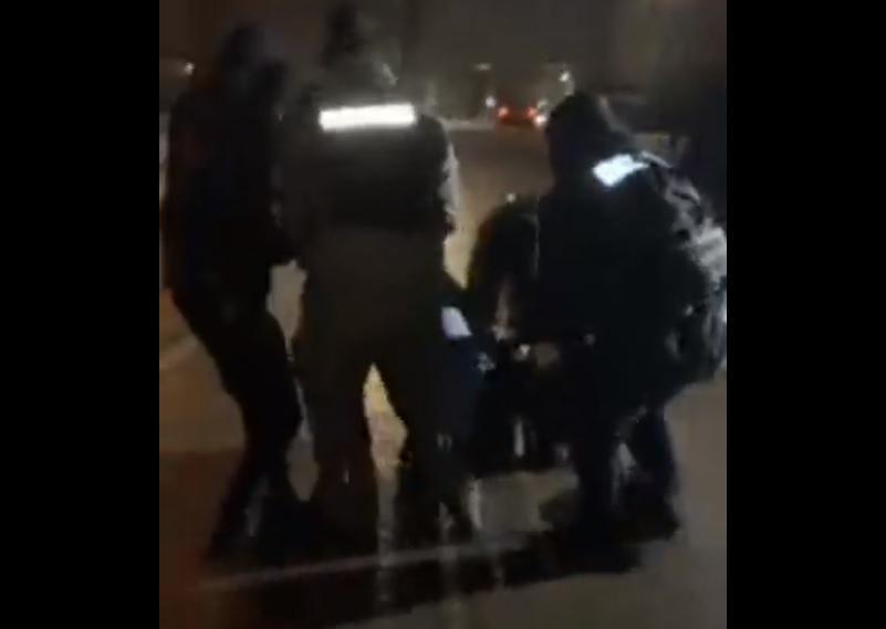 Стерненко - полиция в Житомире жестко задержала сторонника активиста: видео/ скриншот