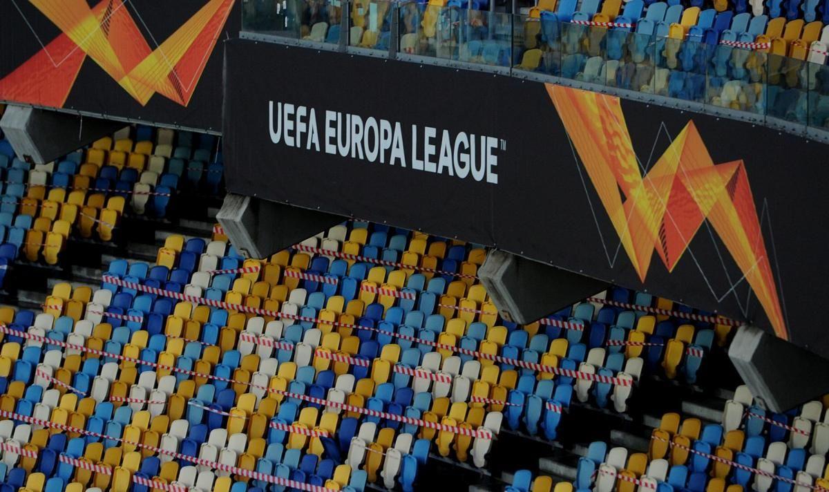 Баннер Лиги Европы на Олимпийском / фото ФК Шахтер