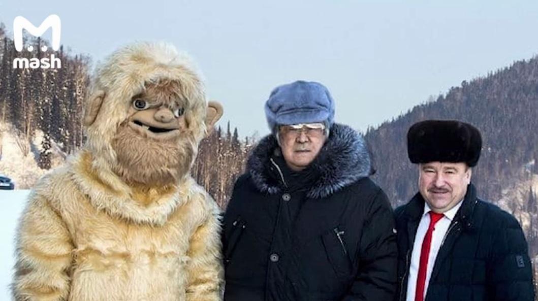 Раскрыта загадка кузбасского снежного человека / Скриншот с видео