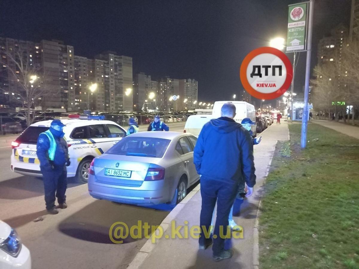На место приехала полиция и медики / dtp.kiev.ua