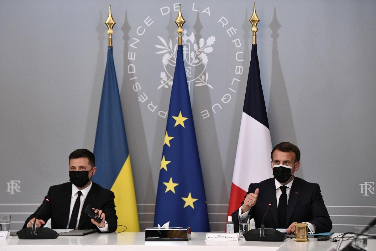 Зеленський зустрівся з Макроном / фото REUTERS