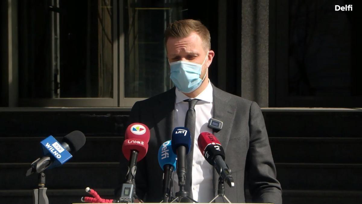 """Ландсбергис подчеркнул, что санкции нужно обсудить до пересечения """"красных линий"""" / скриншот из видео"""
