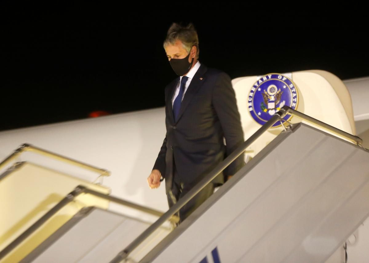 Blinken arrived in Kyiv on May 6 / REUTERS