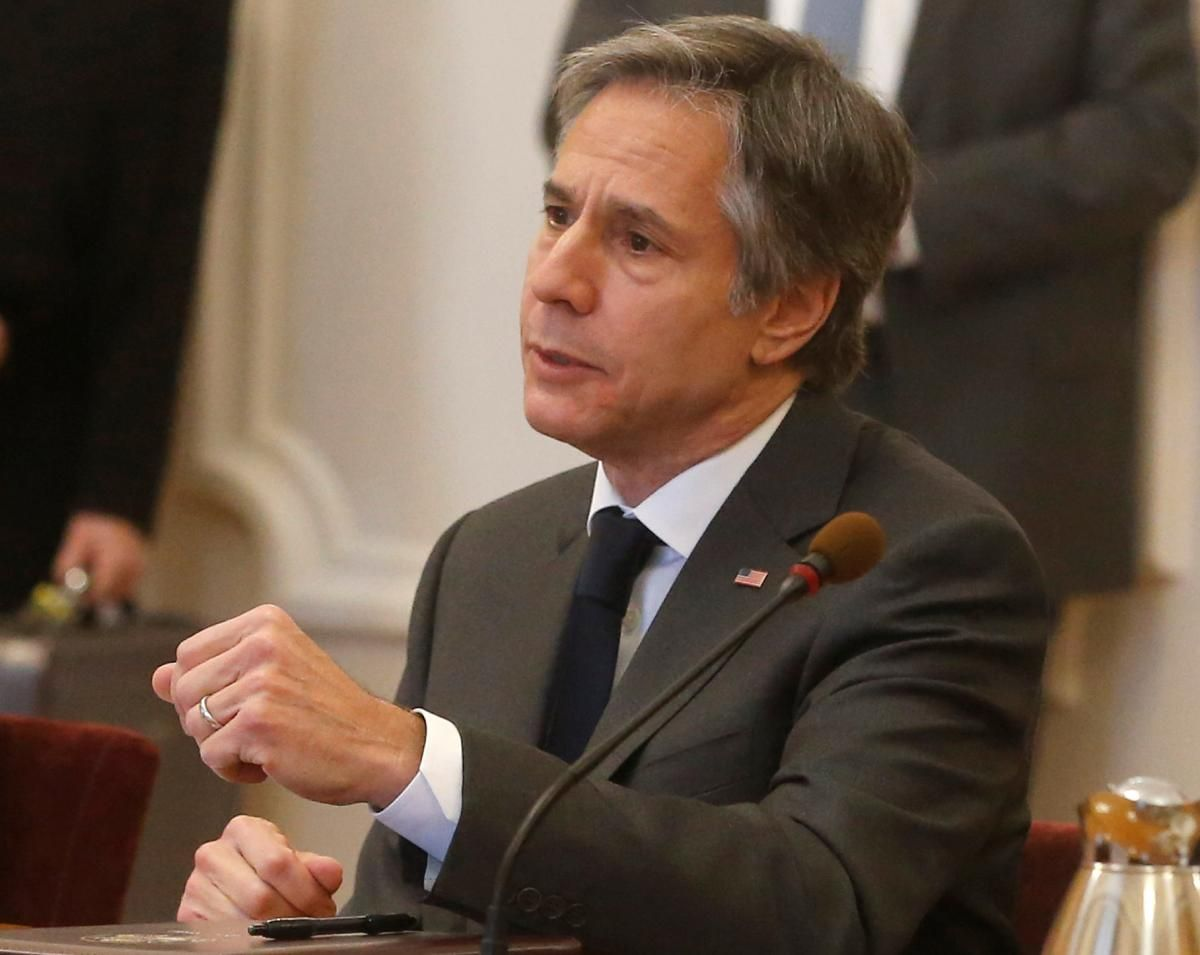 Blinken was on a two-day visit to  Ukraine / REUTERS