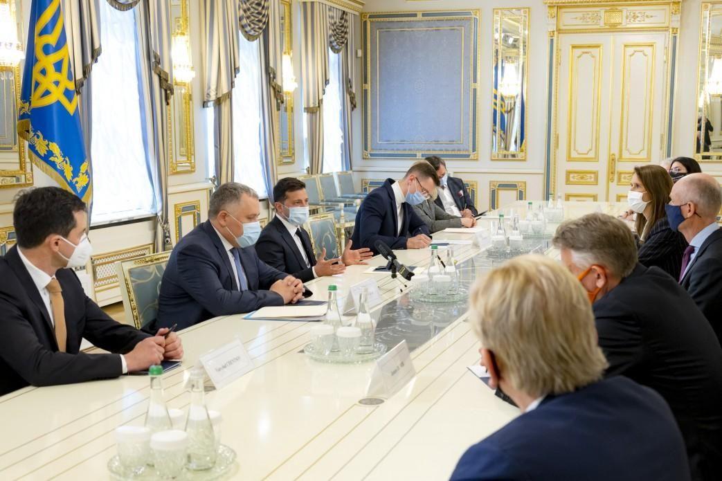 Зеленський та глави МЗС країн Бенілюксу / фото president.gov.ua