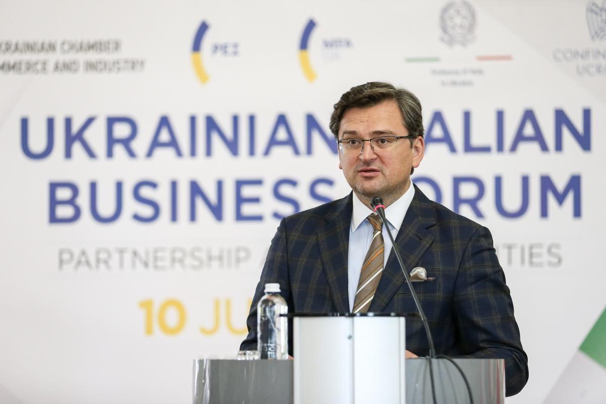 Министр иностранных дел Украины Дмитрий Кулеба поблагодарил бизнесменов за активизацию делового сотрудничества