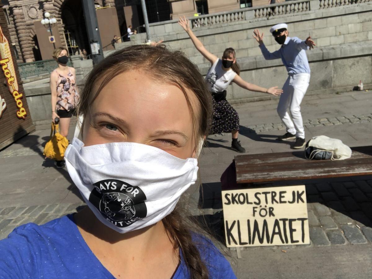 Акции проходят с августа 2018 года / фото Twitter/Greta Thunberg