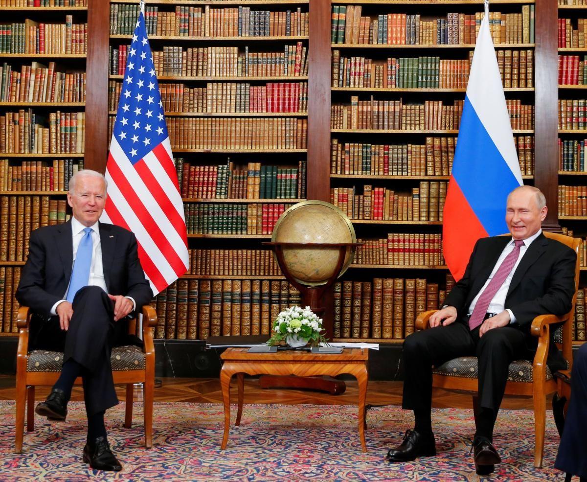 Джо Байден і Володимир Путін провели переговори в Женеві 16 червня / фото REUTERS