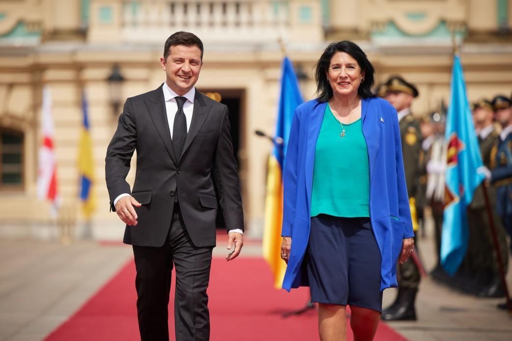 Встреча президента Украины с президентом Грузии