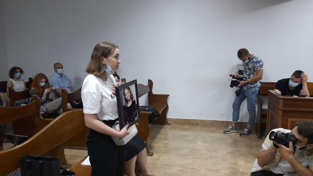 Анастасия Ноздровская - дочь убитой / фото УНИАН, Дмитрий Хилюк
