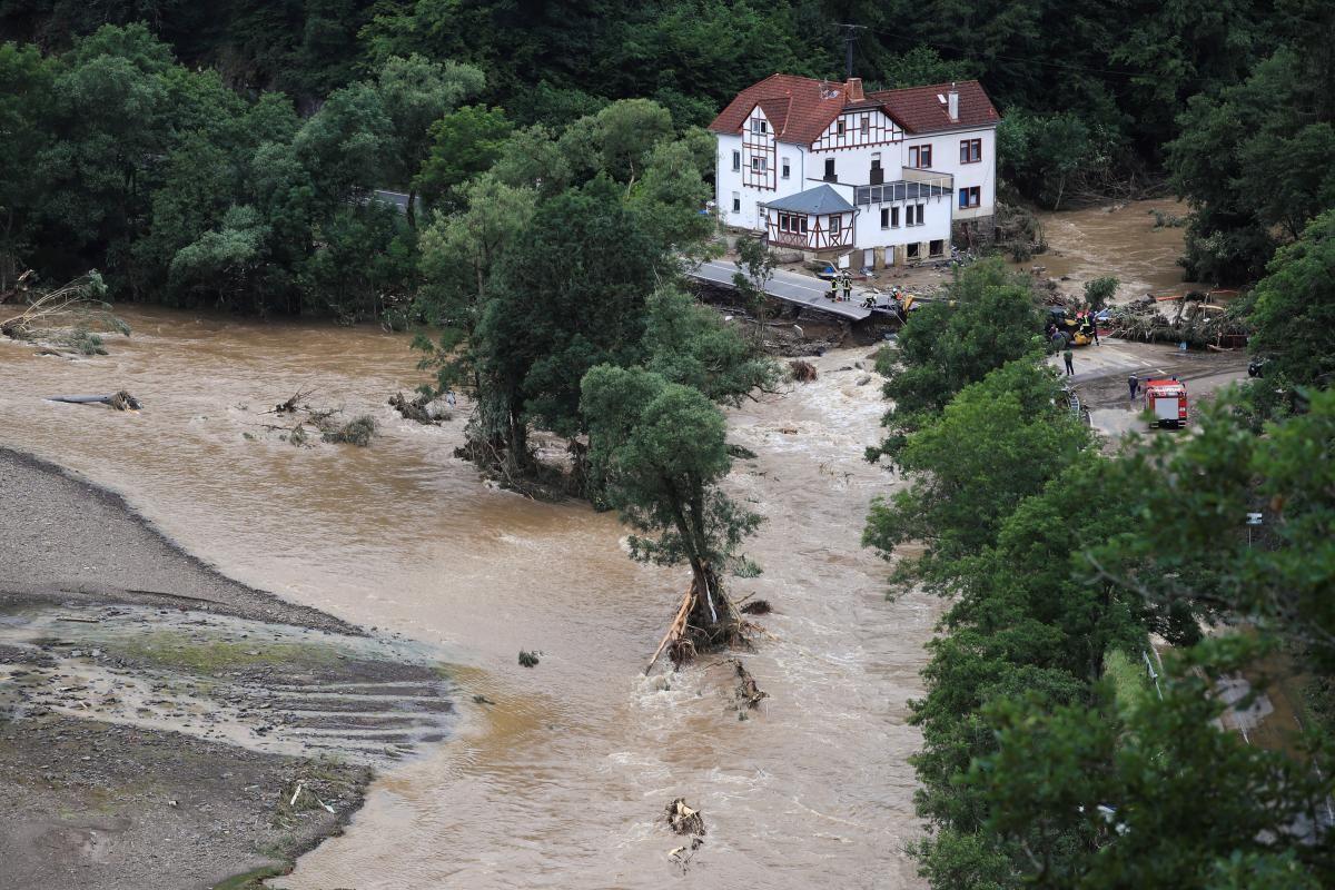 Потужні зливи накрили Німеччину минулого тижня / фото REUTERS