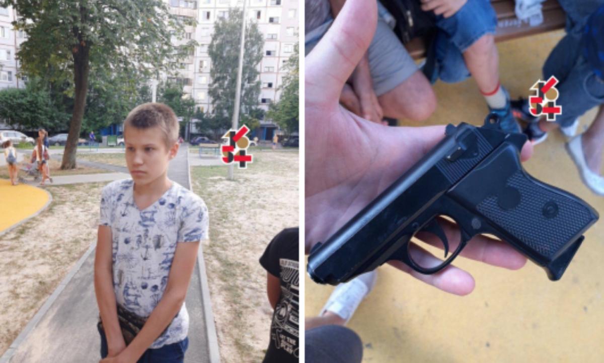 Фото з місця стрілянини на дитячому майданчику / Харків 1654