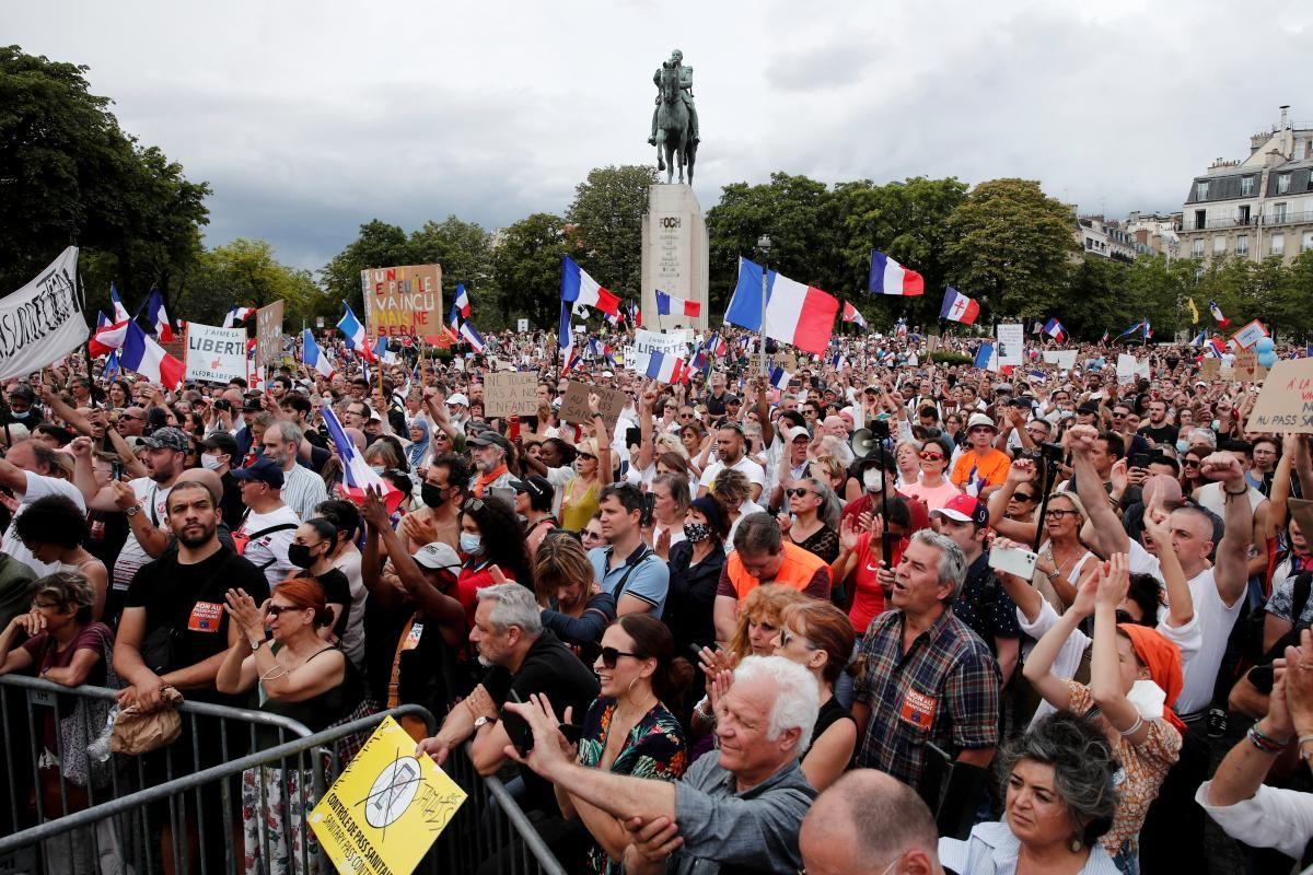 Акція протесту в Парижі / фото REUTERS