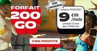 NRJ Mobile : forfait 200 Go à 9,99 € par mois pendant 1 an sans engagement
