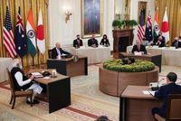 """פסגה בבית הלבן: מנהיגי """"המרובע"""" נפגשו לראשונה, ושלחו מסר לסין"""