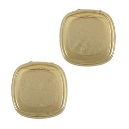 Κίτρινα Χρυσά Μανικετόκουμπα Καπάκια Κ14 MANK133