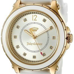 JUICY COUTURE Hollywood Crystals Multifunction White Rubber 1901416