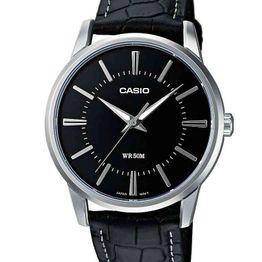 CASIO Collection Black Leather Strap MTP-1303PL-1AVEF