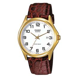 CASIO Collection Brown Leather Strap MTP-1188PQ-7BEF