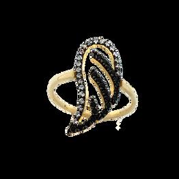 Κίτρινο Χρυσό Δαχτυλίδι Φτερό Κ9 DX177