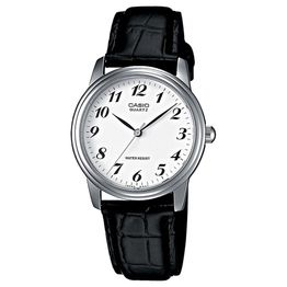 CASIO Collection Mens Black Leather Strap MTP-1236PL-7BEF