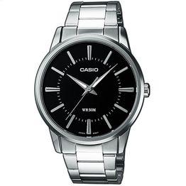 CASIO Men's Collection Neobrite Black Dial Steel Bracelet MTP-1303PD-1AVEF
