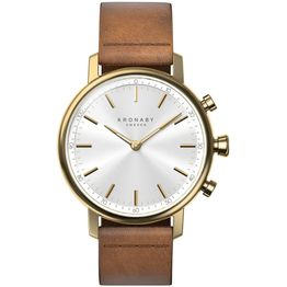 KRONABY Smart-Watch Carat Brown Leather Strap A1000-0717
