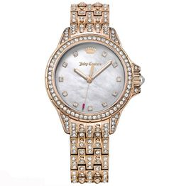 JUICY COUTURE Malibu Crystal Rose Gold Stainless Steel 1901560