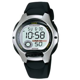 Casio Collection Black Rubber Srap LW-200-1AV