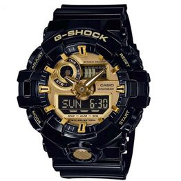 CASIO G-SHOCK Chronograph Black Rubber Strap GA-710GB-1AER