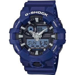 CASIO G-SHOCK Blue Rubber Strap GA-700-2AER