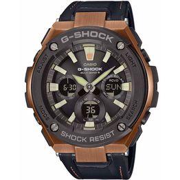 CASIO G-SHOCK Black Leather Strap GST-W120L-1AER