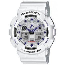 CASIO G-SHOCK White Rubber Strap GA-100A-7AER