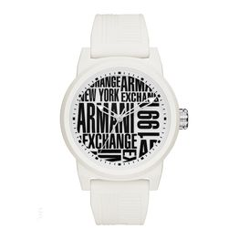 ARMANI EXCHANGE Atlc White Rubber Strap AX1442