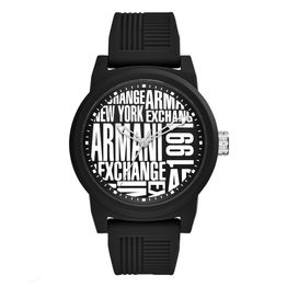 ARMANI EXCHANGE Atlc Black Rubber Strap AX1443
