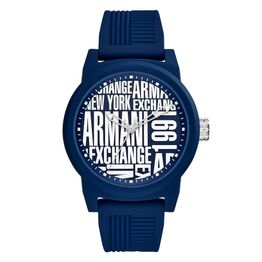 ARMANI EXCHANGE Atlc Blue Rubber Strap AX1444