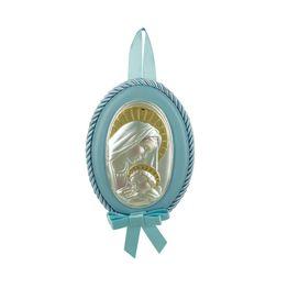 Princelino Γαλάζια Εικόνα Κούνιας Για Αγόρι Από Ασήμι MA/D514-CC