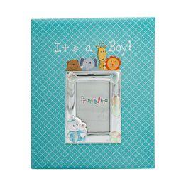 Princelino Παιδικό Άλμπουμ για Αγόρι από Δερματίνη Με Κορνίζα Aπό Ασήμι MA/A130S-C