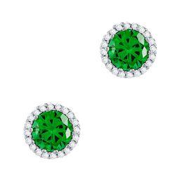 Σκουλαρίκια Με Πράσινες Πέτρες Από Ασήμι SK997