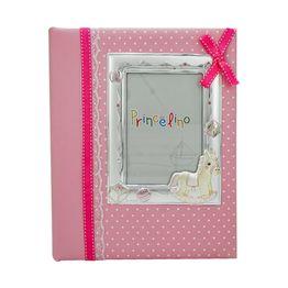 Princelino Παιδικό Άλμπουμ για Κορίτσι με Κορνίζα Από Ασήμι MA/A140M-R