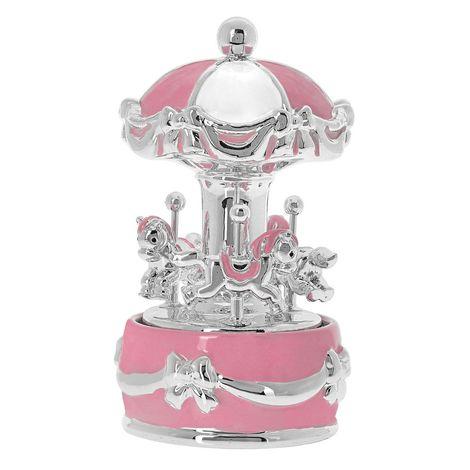 Princelino Ροζ Πήλινο Κουρδιστό Carousel Mε Μουσική Για Κορίτσι EZ/CA1911-R
