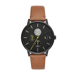 ARMANI EXCHANGE Cayde Brown Leather Strap AX2723