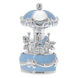 Princelino Γαλάζιο Πήλινο Κουρδιστό Carousel Mε Μουσική Για Αγόρι EZ/CA1911-C