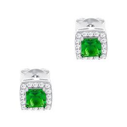Σκουλαρίκια Mε Πράσινες Πέτρες από Ασήμι SK1502