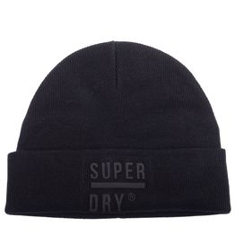 SUPERDRY Σκούφος ανδρικός M9000016A-02A ΜΑΥΡΟ