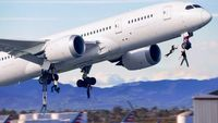 Californians Desperate To Escape Cling To Landing Gear Of Last Jet Leaving LAX
